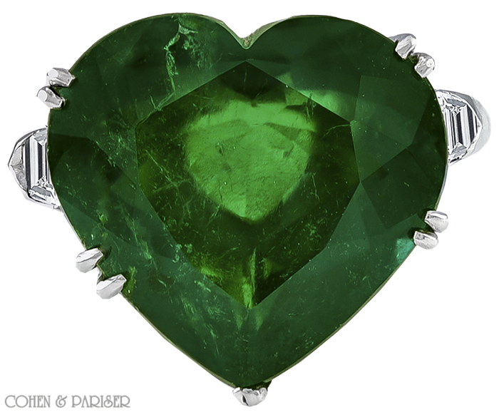 heart shaped ring emerald claddagh
