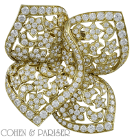 Van Cleef and Arpels Gold and Diamond pin