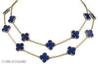 Van Cleef and Arpels Lapis Lazuli Alhambra Necklace